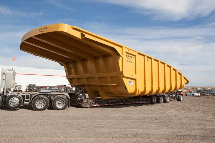 ESCO Corporation's first Wyoming built mining truck body, built for Cloud Peak Energy, Wright, WY.
