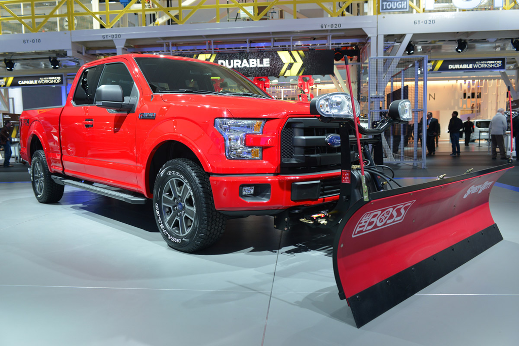 2015 Ford F-150 snow plow equipped