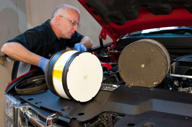 Duramax Air Filter Service Tips | Medium Duty Work Truck Info