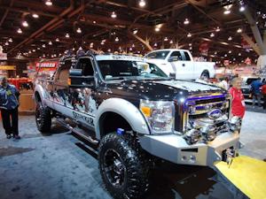 Custom Ford Trucks On Display At SEMA Show In Las Vegas - Linq car show