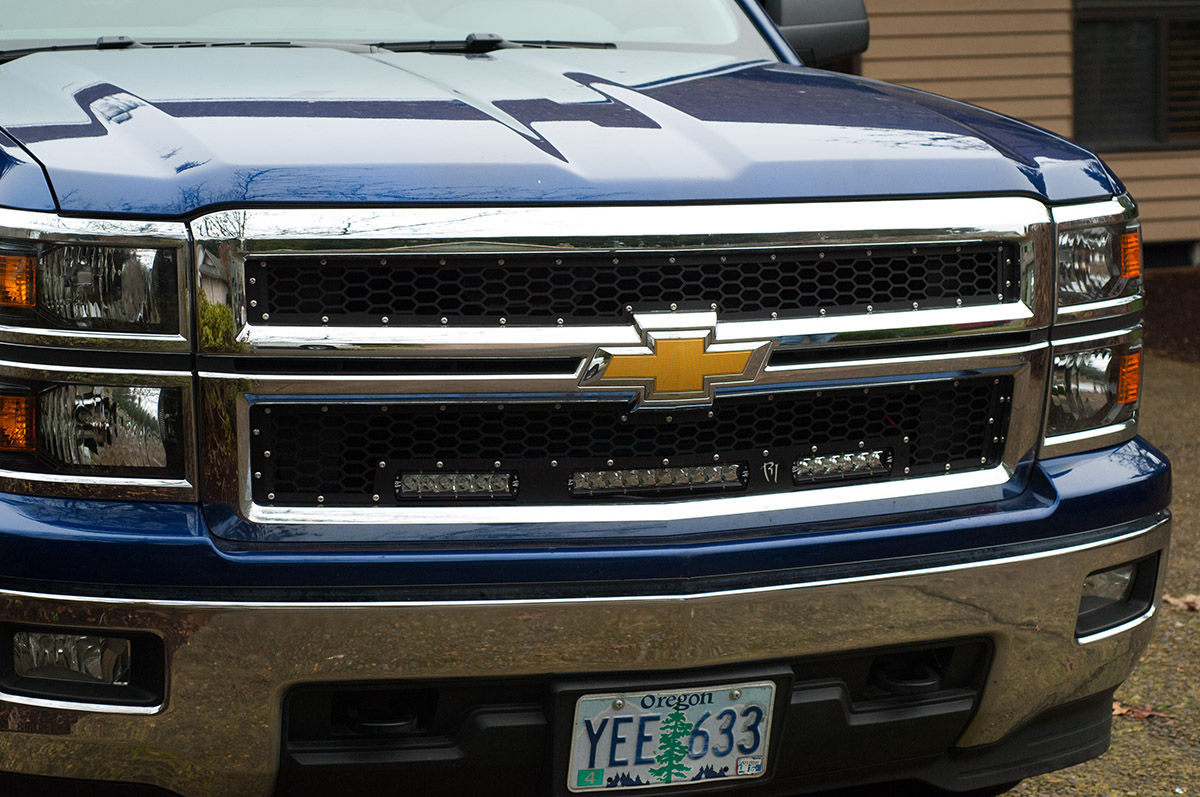 LED Grille Install: 2014-Up Chevy Silverado | Medium Duty Work Truck ...