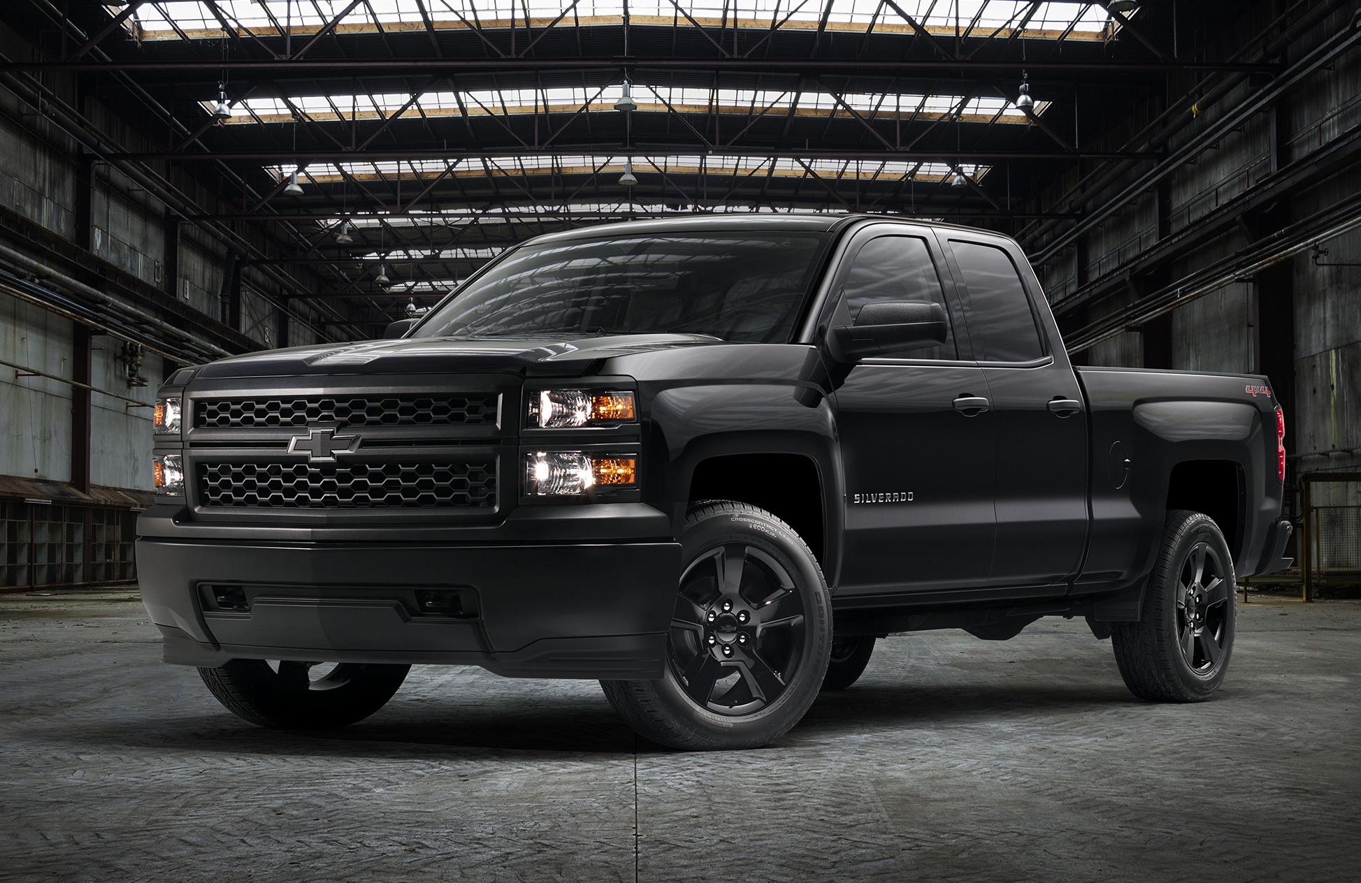 Chevy Silverado Work Trucks Get Black-Out Package   Medium ...