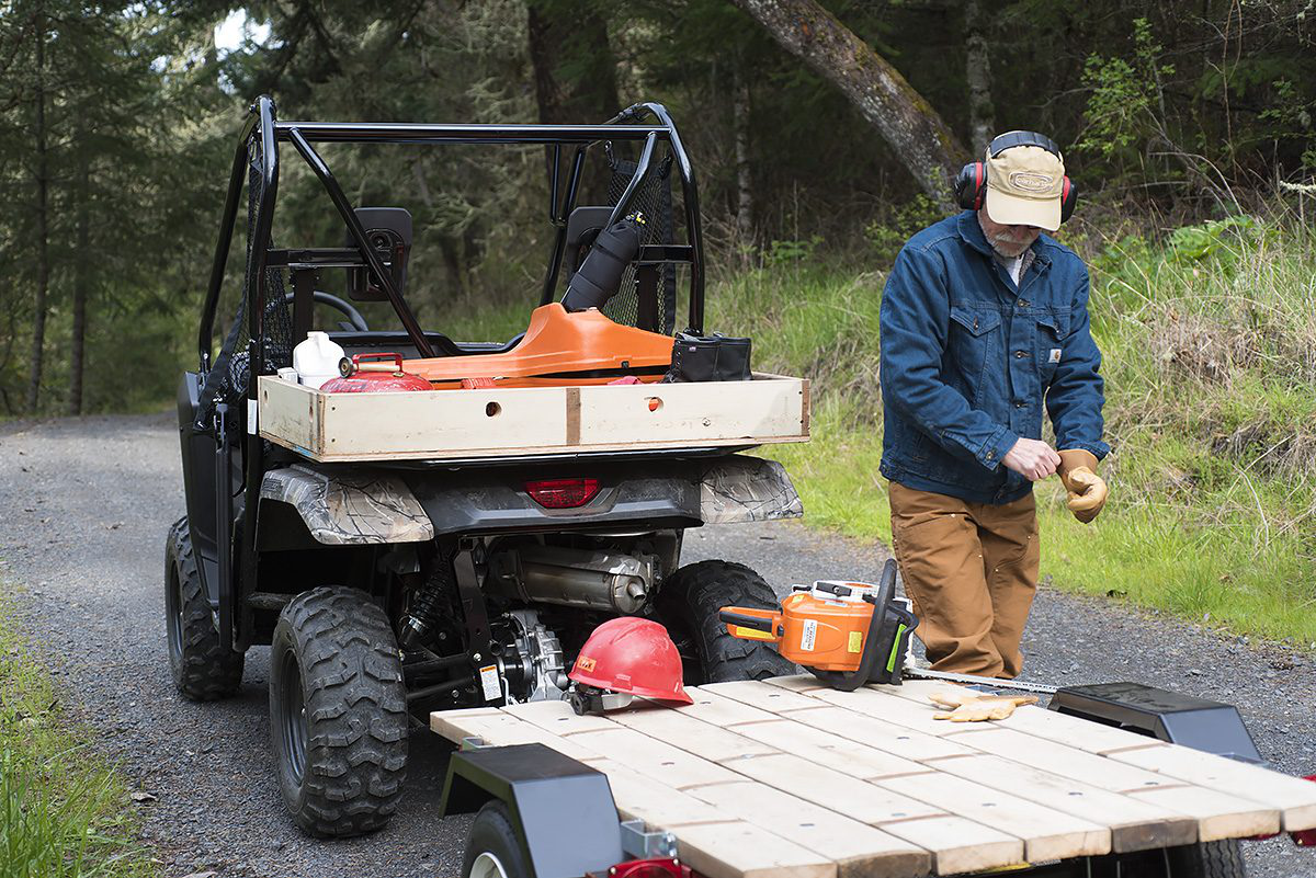 towing a small trailer is easy work for the pioneer 500  we built our own