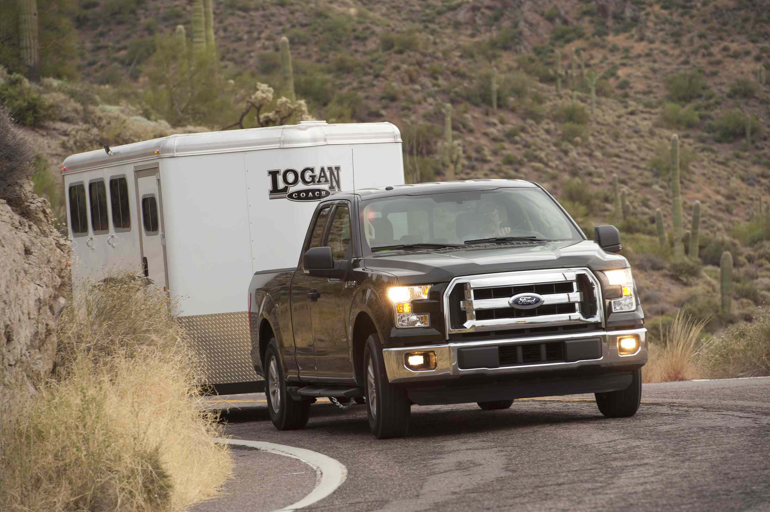 12 ton pickup shootout 5 trucks 5 days 1 winner medium duty ford sent a pre production 50l f 150 xlt with a cloth interior sciox Image collections