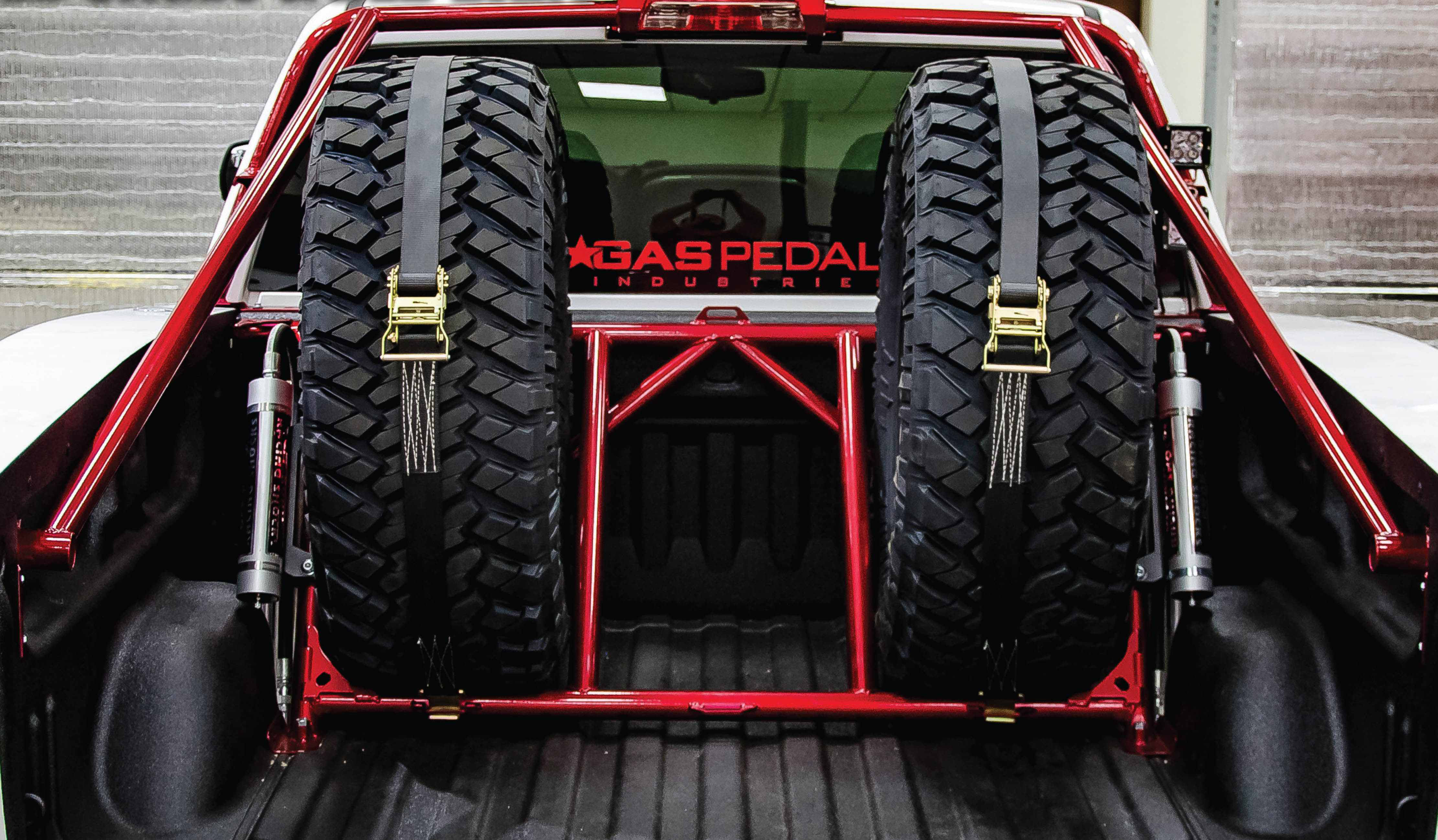 Bed Cages 1 N Fab Unveiled Its New Tire Cage Monday At The 2017 Specialty Equipment Market Association Sema Show In Las Vegas