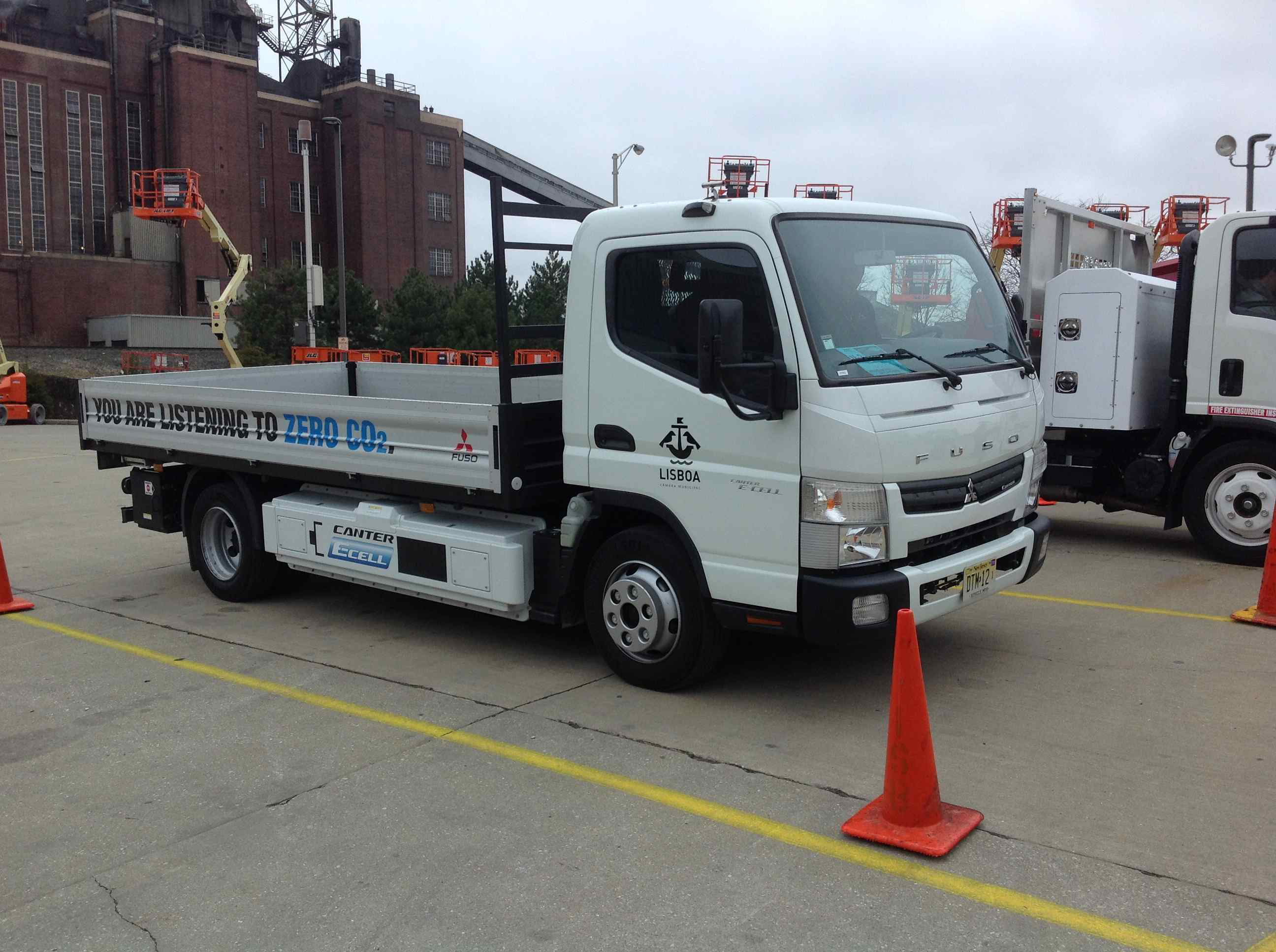 Test Drive Mitsubishi Fuso Canter All Electric Truck Medium Duty Testing Car Blower Fan Replacement And Electrical Like A Pro When Walking Out To The E Cell It Was Hard Judge What More Captivating Or Line Of