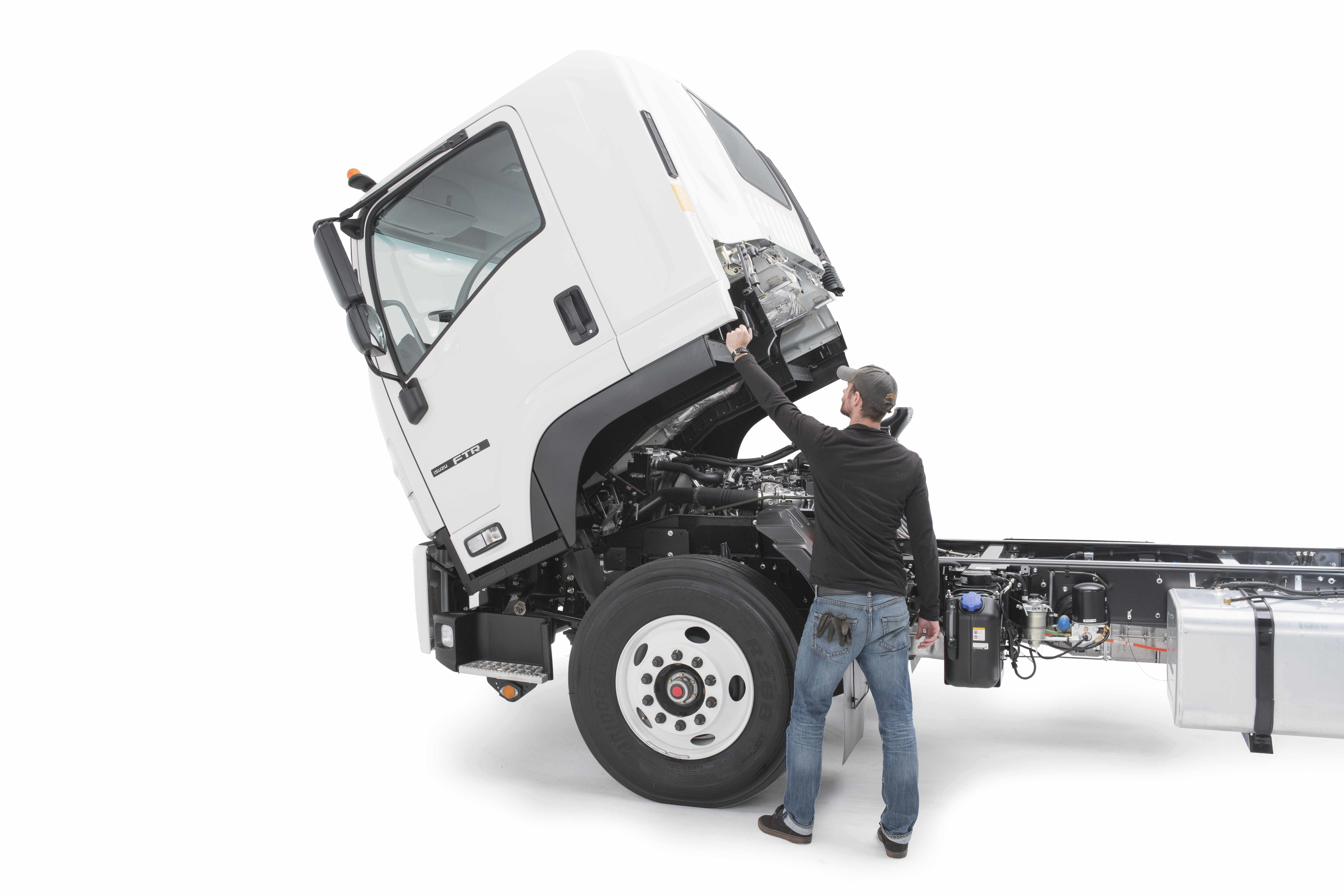 test drive  isuzu ftr medium duty work truck info