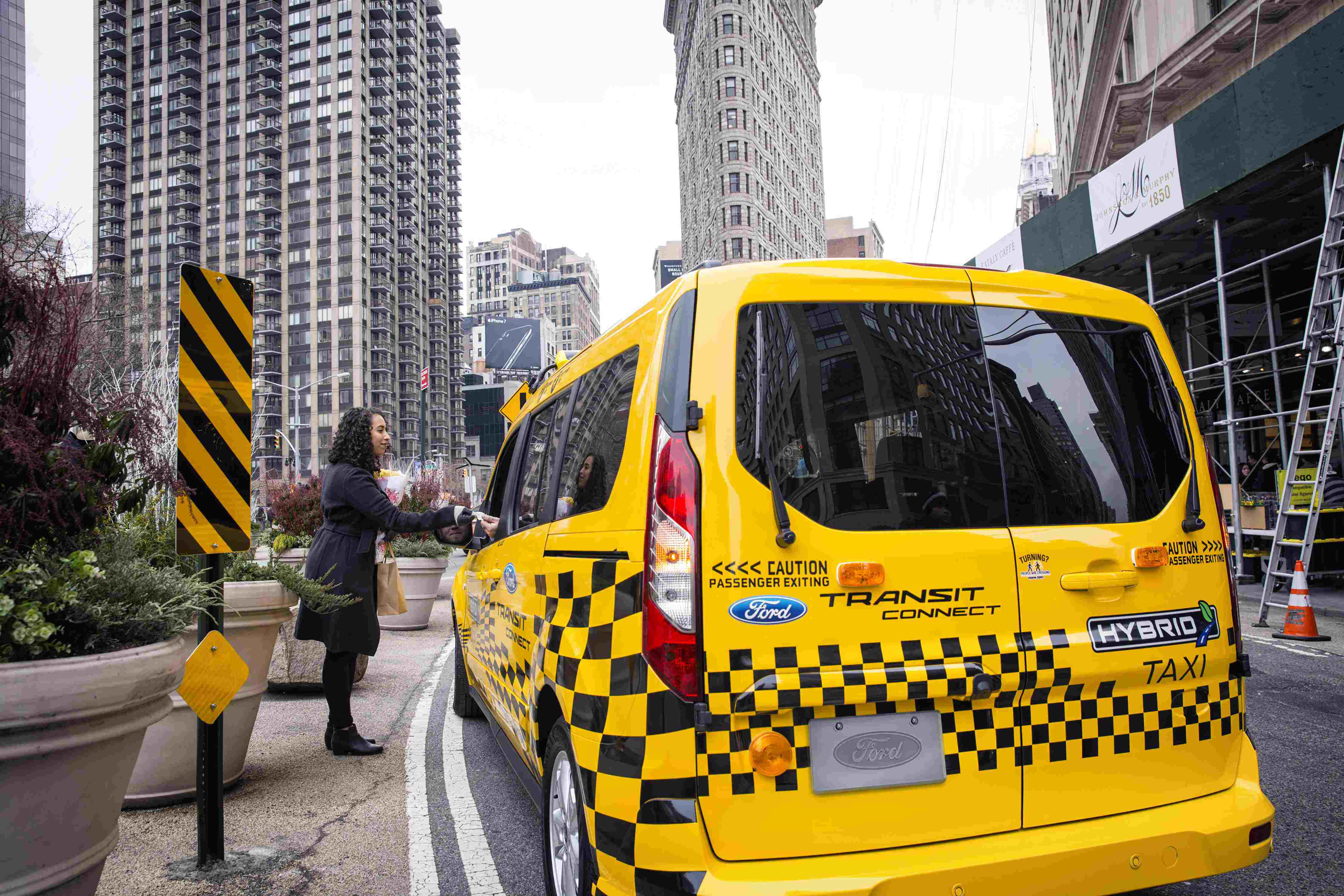 Ford announced today that prototype hybrid Transit Connect taxis will be making their way through U.S. cities.