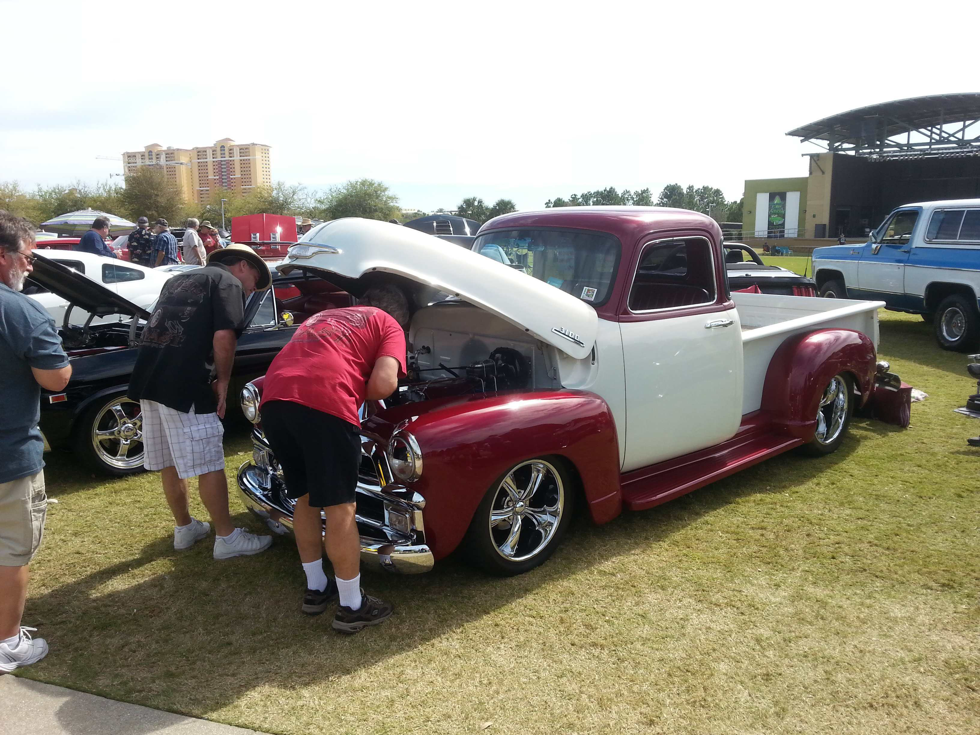 Nitrous Lends A Hand To Blown 1965 Chevy C10 Medium Duty Work 1954 Pick Up The Chrome Here On This 3100 Attracted Lot Of Attention It