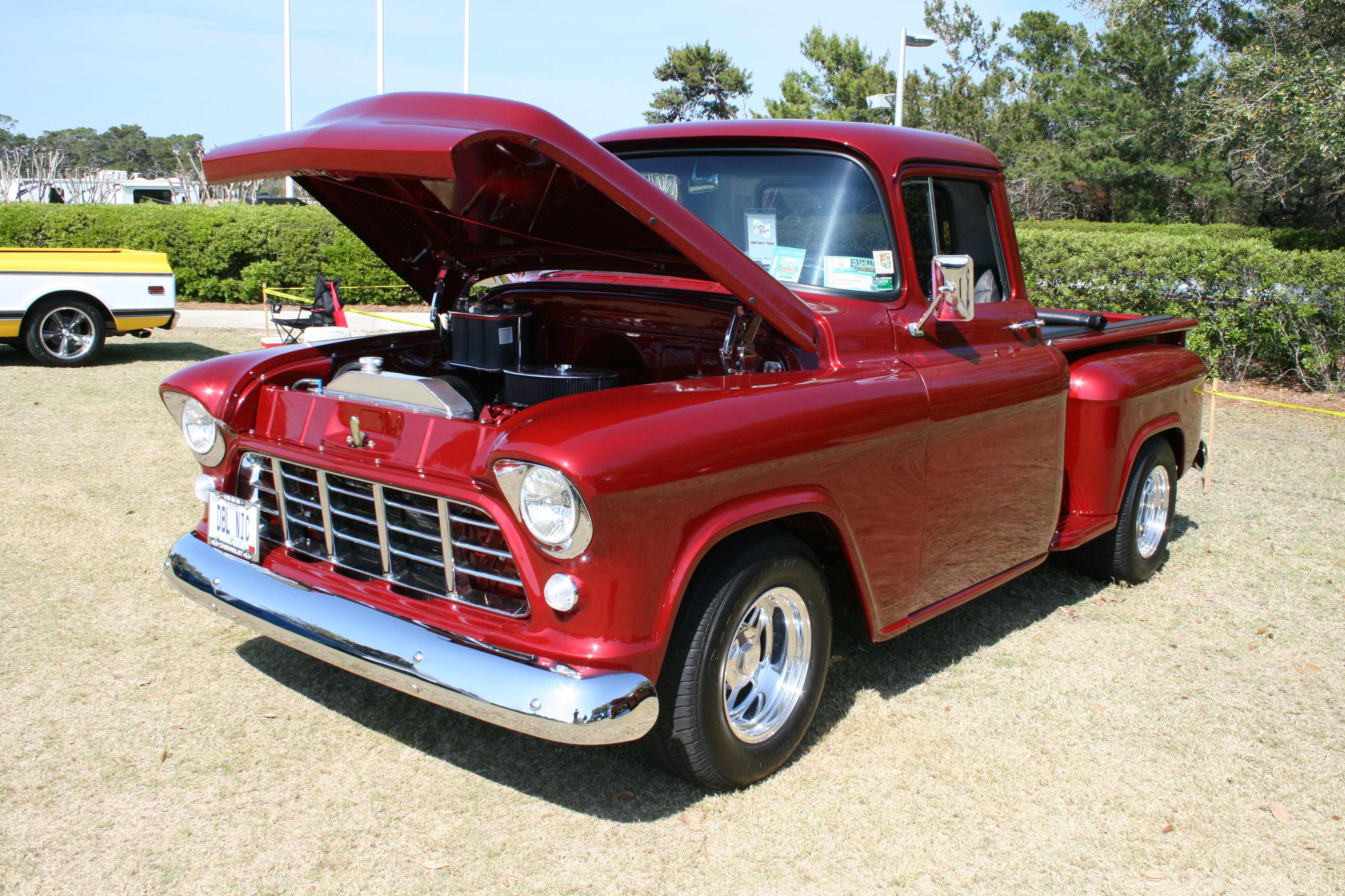 Photos Classic Trucks Roll Into Panama City Beach Medium Duty 1941 Ford F1 Truck 1955 Chevy 3100 With A 350 Bored 030 Over And 700 R4 Transmission 9