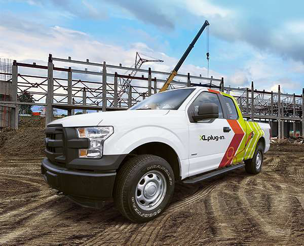 The XL Hybrid PHEV upfit for the 2017-2018 Ford F-150 will be installed by Knapheide.
