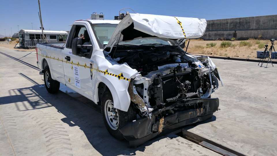 Landi Renzo crash tests CNG-equipped 2017 Ford Super Duty