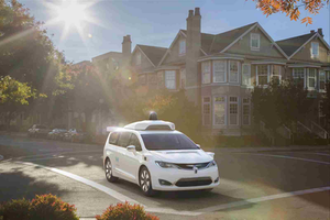 Chrysler Pacifica Hybrid with Waymo self-driving technology.