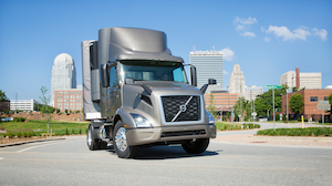 New Volvo VNR (shown above) and VNL series trucks now come standard with Active Driver Assist.