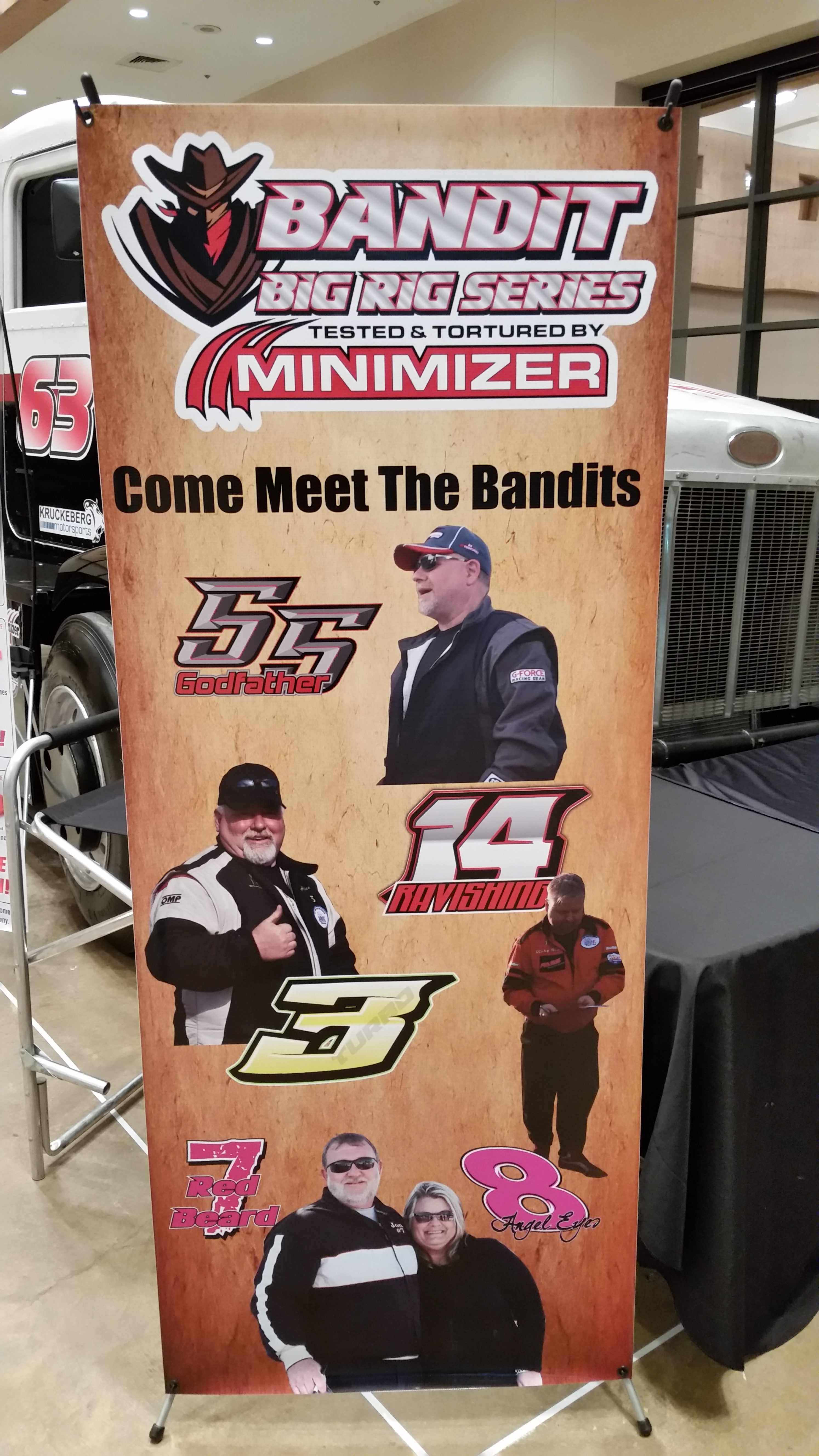 Poster featuring Bandit Big Rig Series race drivers