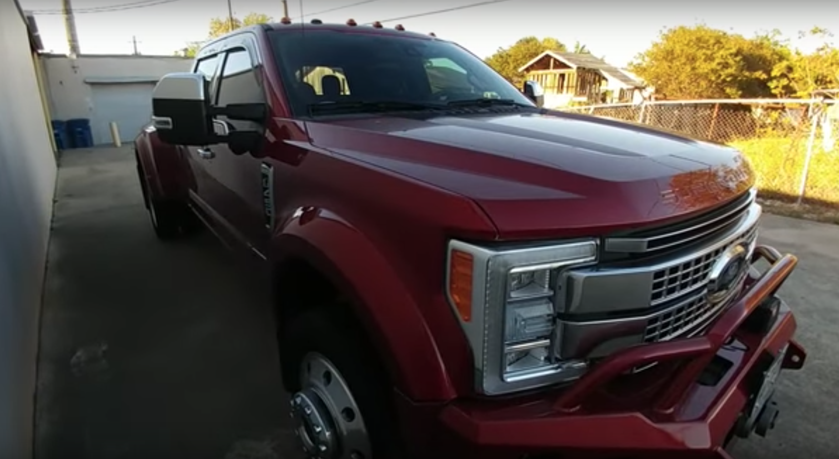 A ford truck owner has gotten plenty of attention after posting a review of his 2017 f 450 king ranch