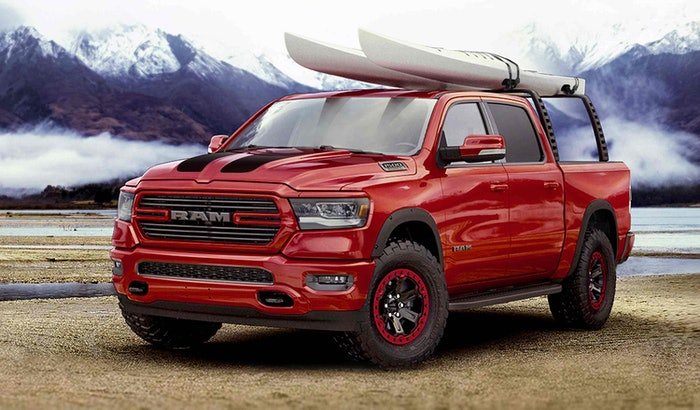 The outdoor-sport-themed 2019 Ram 1500 highlights the 200-plus M