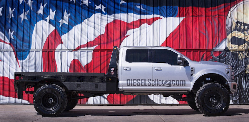 Diesel Brothers 'one-of-a-kind' F-450 SEMA flatbed sells ...
