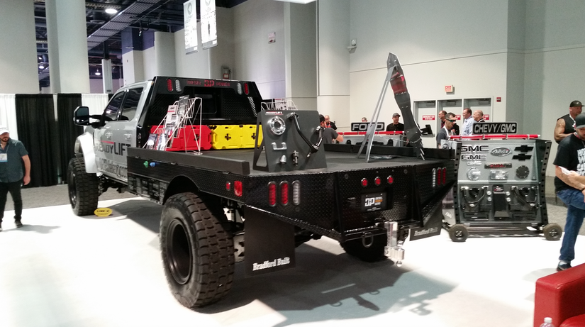 Diesel Brothers 'one-of-a-kind' F-450 SEMA flatbed sells on eBay | Medium Duty Work Truck Info