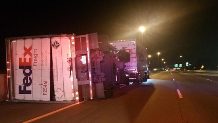 FedEx-truck-crash-highway