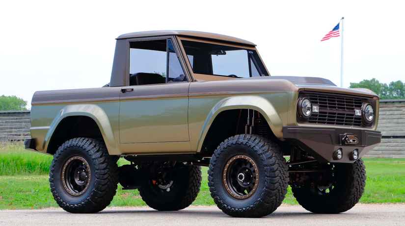 1966 custom Ford Bronco half-cab going up for auction ...