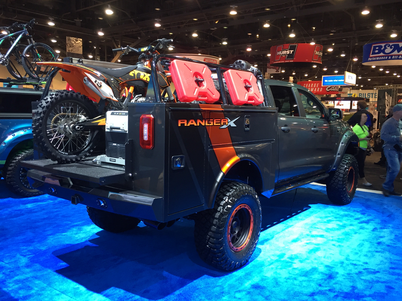 Ford S Sema Display Of 2019 Rangers Part 1 Medium Duty