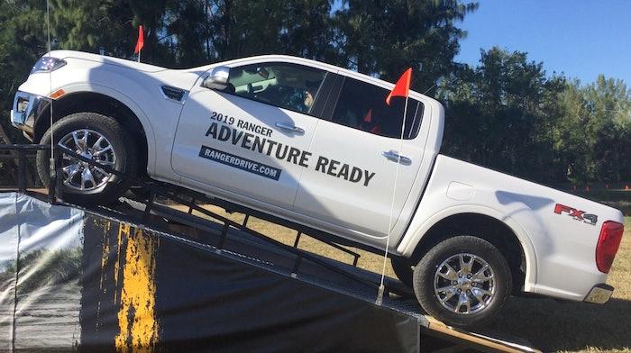 2019 Ford Ranger climbing
