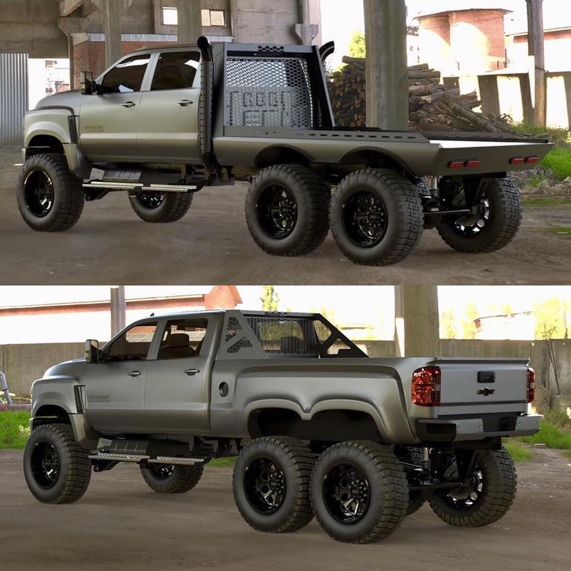 Diesel Brothers building 6×6 Ford and Chevy trucks ...