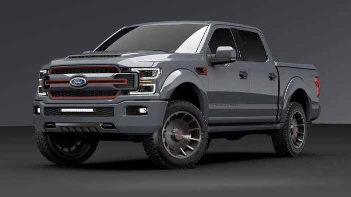 LeadFootGrayTruck_Dark-Finish-Package_FrontView_10.19.18