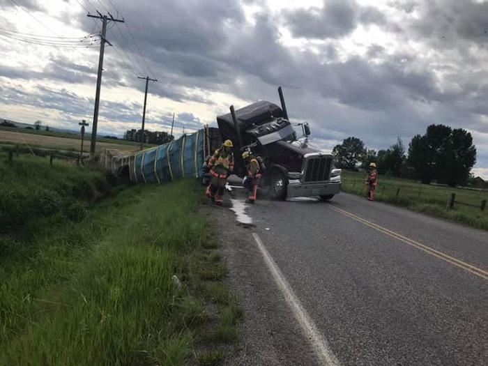 bee-truck-crash-montana-hyalite-fire-department