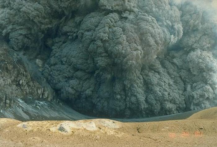 white volcano