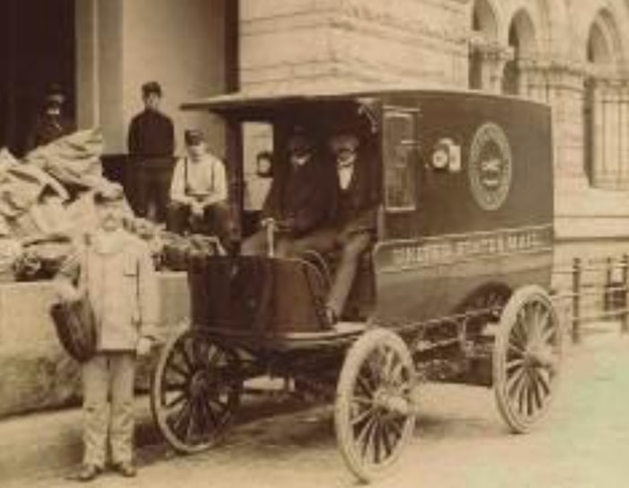 A hundred years after the fact, you can read about what the United States Postal Service thought about electric delivery carriages. It may be more than what some companies are willing to offer today. A Columbia Mark XI electric delivery wagon used by USPS in 1901 is shown above.