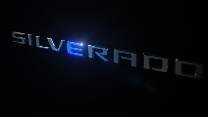 As far as pictures, Chevy would only reveal some badging when announcing its electric Silverado.