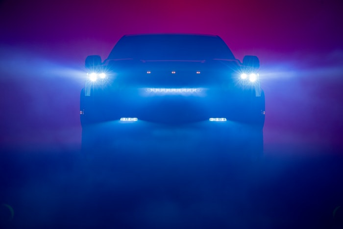 Yes, those look like marker lights across the front of the 2022 Toyota Tundra which the automaker teased this week. Video is posted below.