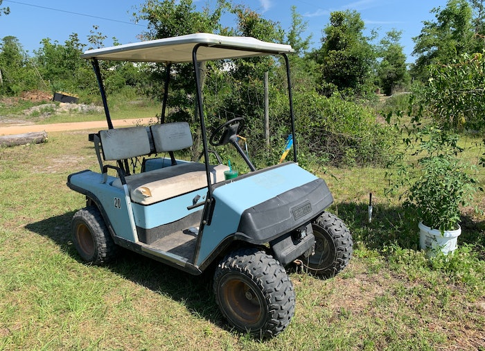 While not much to look at, my recently acquired 1994 EZGo Marathon golf cart has thus far proven to be a reliable, low maintenance workhorse.
