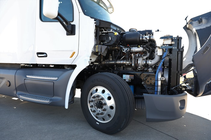 right side engine on truck