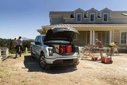The all-electric 2022 Ford F-150 Lightning Pro