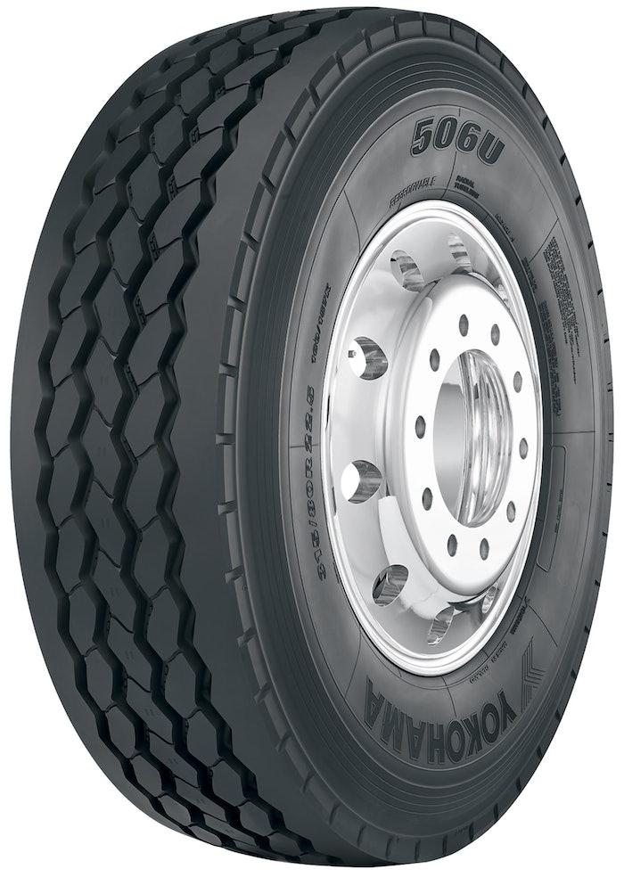 Yokohama 506U refuse truck tire