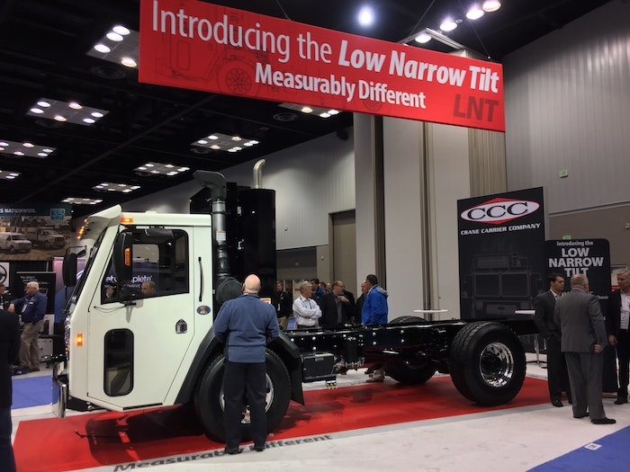 Crane Carrier introduced its LNT model with all-electric and diesel powertrain specs at The Work Truck Show in March of 2020.