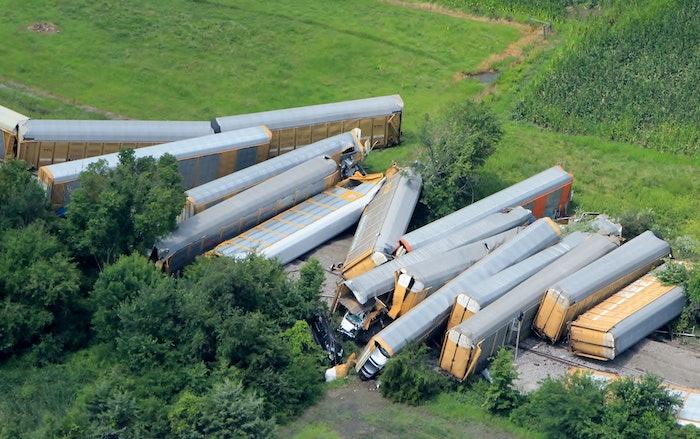 Ford Train Crash Photo Del Buckman