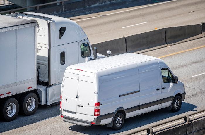 cargo van and semi