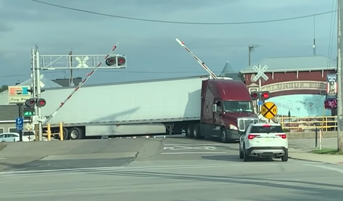 A truck driver in Columbus Grove, Ohio was very fortunate to drive away unharmed after his rig was struck by a train.