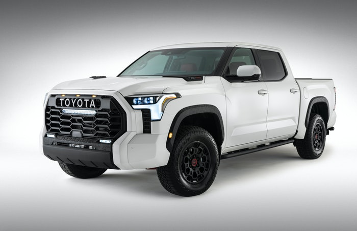 The 2022 Toyota Tundra TRD Pro just might beat the latest Ford Raptor on the street and leave it choking on dirt--so long as no jumps are involved.